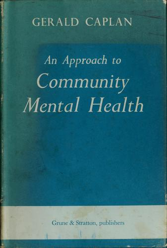 An approach to community mental health