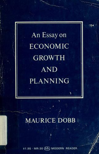 Download An essay on economic growth and planning