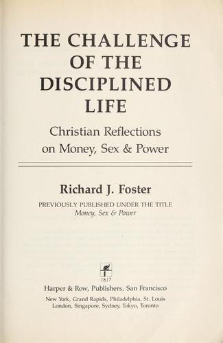 Download The challenge of the disciplined life