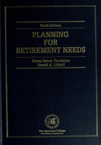 Download Planning for retirement needs