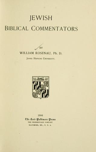Jewish Biblical commentators.