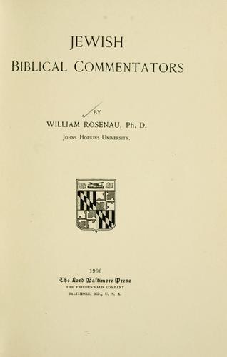 Jewish Biblical commentators.