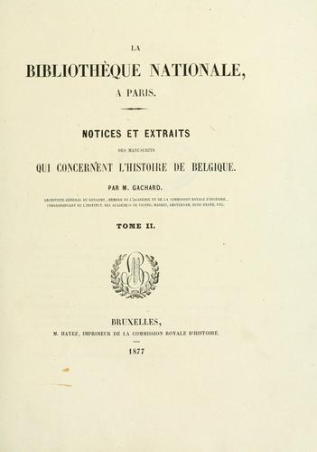 La Bibliothèque nationale à Paris.