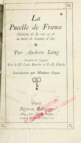 Download La Pucelle de France