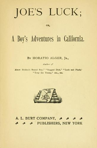 Download Joe's luck, or, A boy's adventures in California