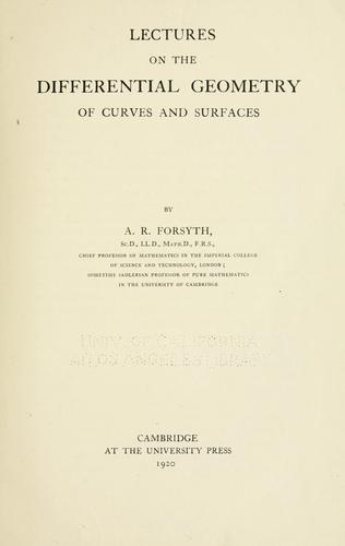 Lectures on the differential geometry of curves and surfaces.