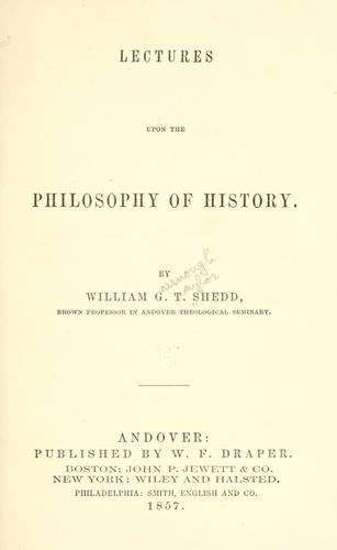 Download Lectures upon the philosophy of history.