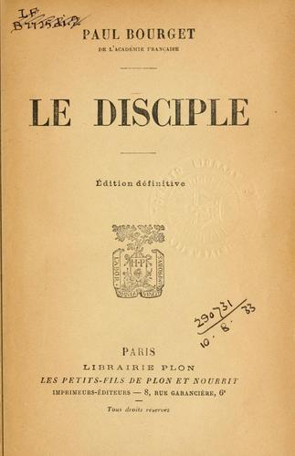 Le disciple.