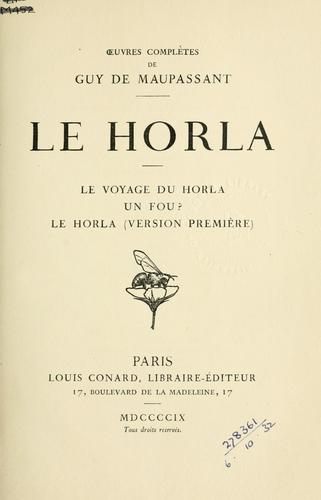 Download Le Horla.
