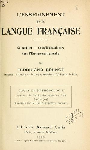 Download L' enseignement de la langue française