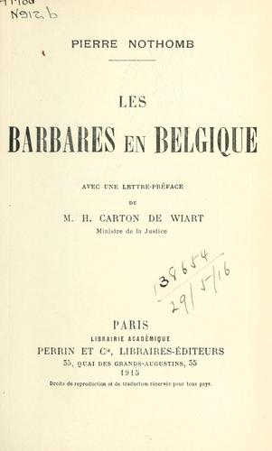 Download Les barbares en Belgique