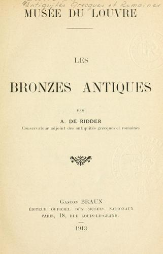 Les bronzes antiques