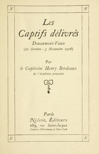 Download Les captifs délivrés