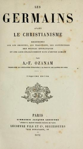 Download Les Germains avant le christianisme