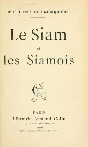 Download Le Siam et les Siamois.