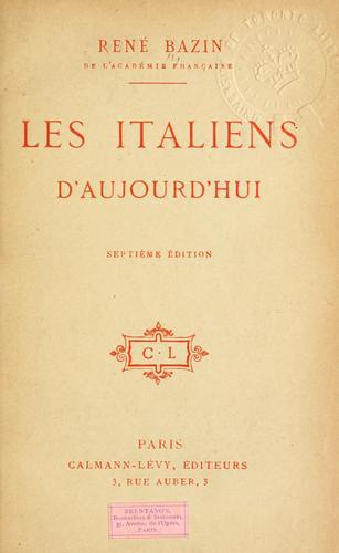 Les Italiens d'aujourd'hui.