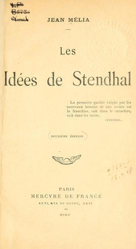 Les idées de Stendhal.