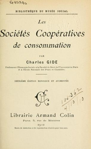 Download Les sociétés coopératives de consommation.