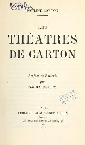 Les théâtres de Carton.