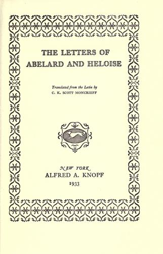 Download The letters of Abelard and Heloise