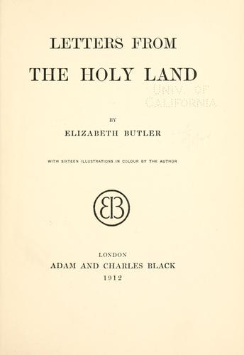 Download Letters from the Holy land