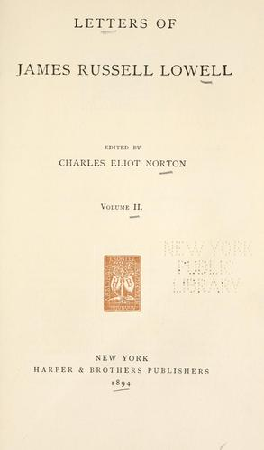 Download Letters of James Russell Lowell