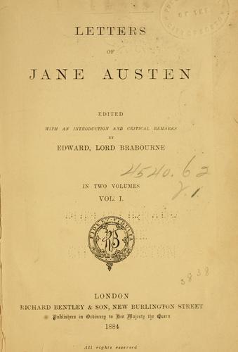 Download Letters of Jane Austen