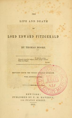 Download The life and death of Lord Edward Fitzgerald