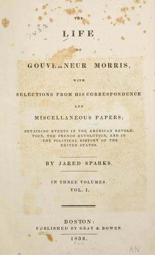 Download The life of Gouverneur Morris