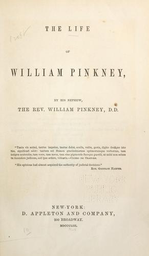Download The life of William Pinkney