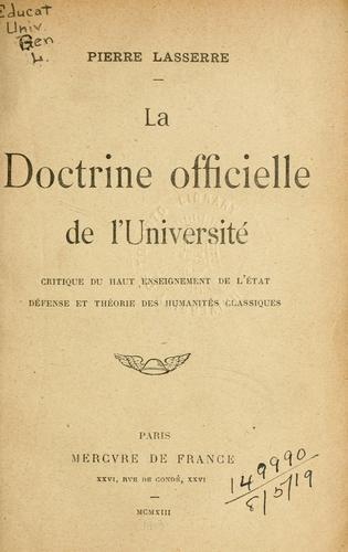 La doctrine officielle de l'Université