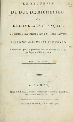 La jeunesse du duc de Richelieu