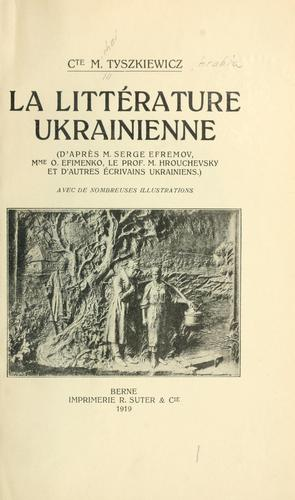 La littérature ukrainienne