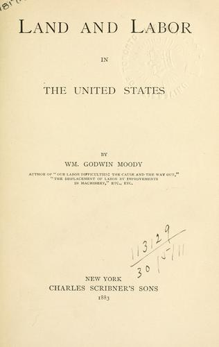 Download Land and labor in the United States.