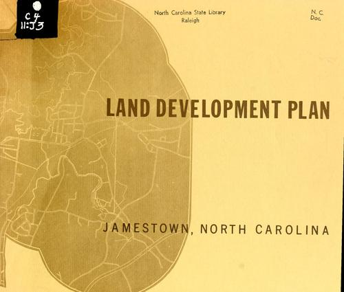 Land development plan, Jamestown, North Carolina by North Carolina. Division of Community Planning