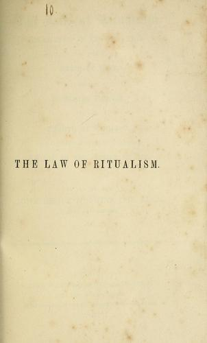 Download The law of ritualism