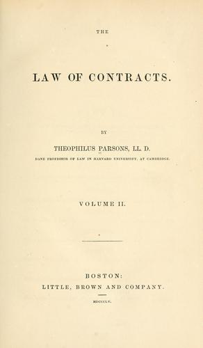 Download The law of contracts.