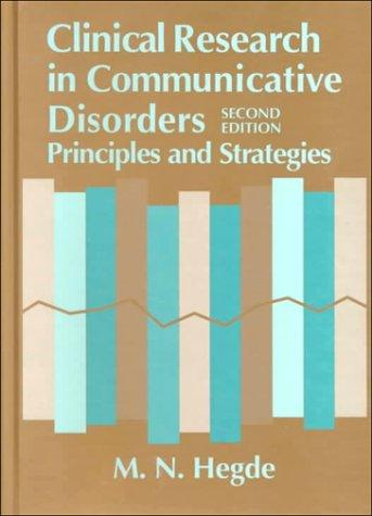 Download Clinical Research in Communicative Disorders