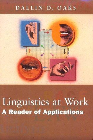 Linguistics at work