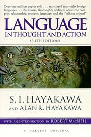 Language in Thought and Action: Fifth Edition [Paperback] by S.I. Hayakawa