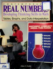 Cover of: Contemporary's Real Numbers Developing Thinking Skills in Math: Tables Graphs and Data Interpretation (Contemporary's Real Numbers: Developing Thinking Skills in M) | Allan D. Suter