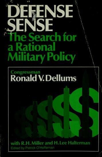 Defense sense by Ronald V. Dellums
