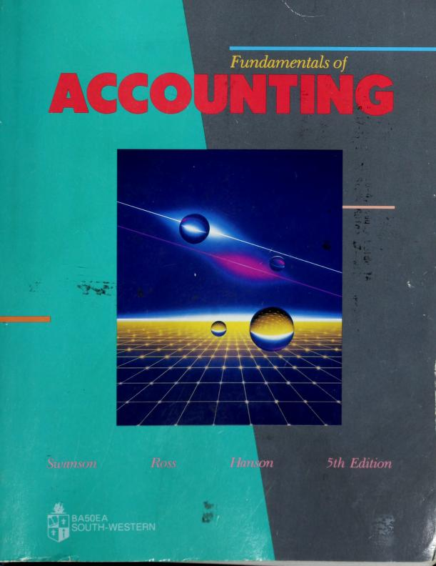 Fundamentals of Accounting by Robert M. Swanson
