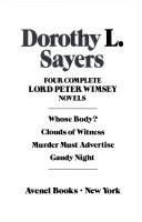 Four complete Lord Peter Wimsey novels