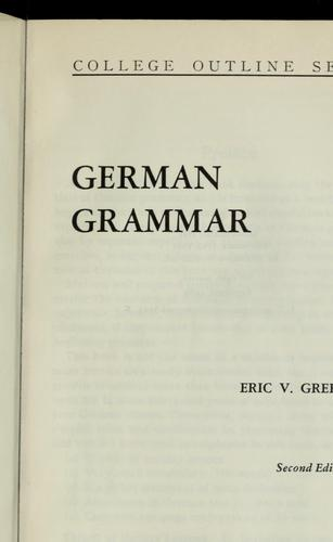 German grammar by Eric V. Greenfield