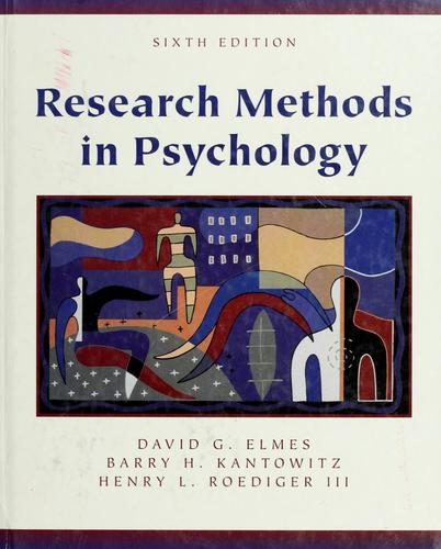 Research methods in psychology by David G. Elmes