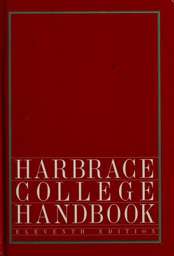 Harbrace college handbook by John Cunyus Hodges
