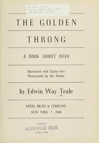 The golden throng by Edwin Way Teale