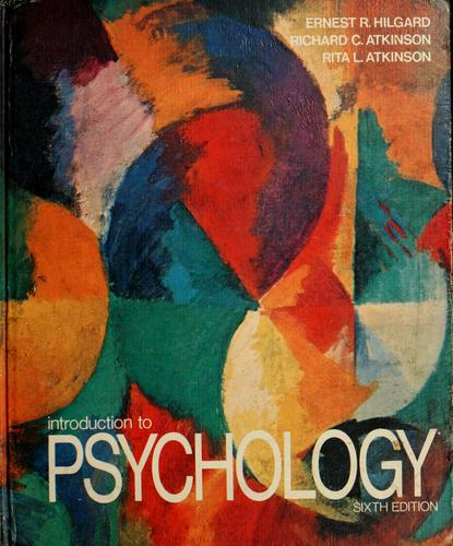 Introduction to psychology by Ernest Ropiequet Hilgard