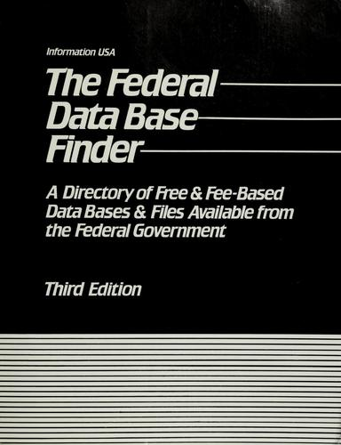 The  federal data base finder by Matthew Lesko